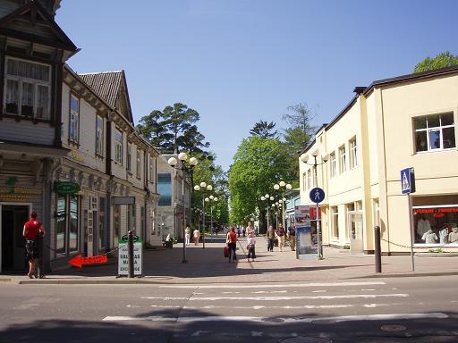 Город Юрмала и улица Йомас